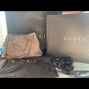 Gucci Soho tote chain calfskin bag